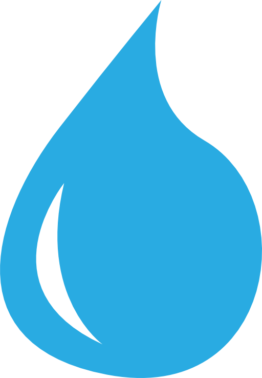 water drop outline - clipart