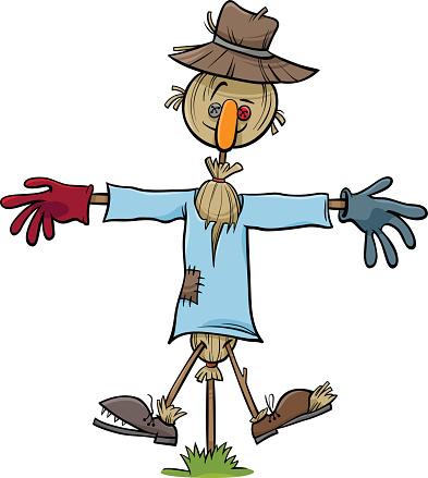 scarecrow vector - clipart