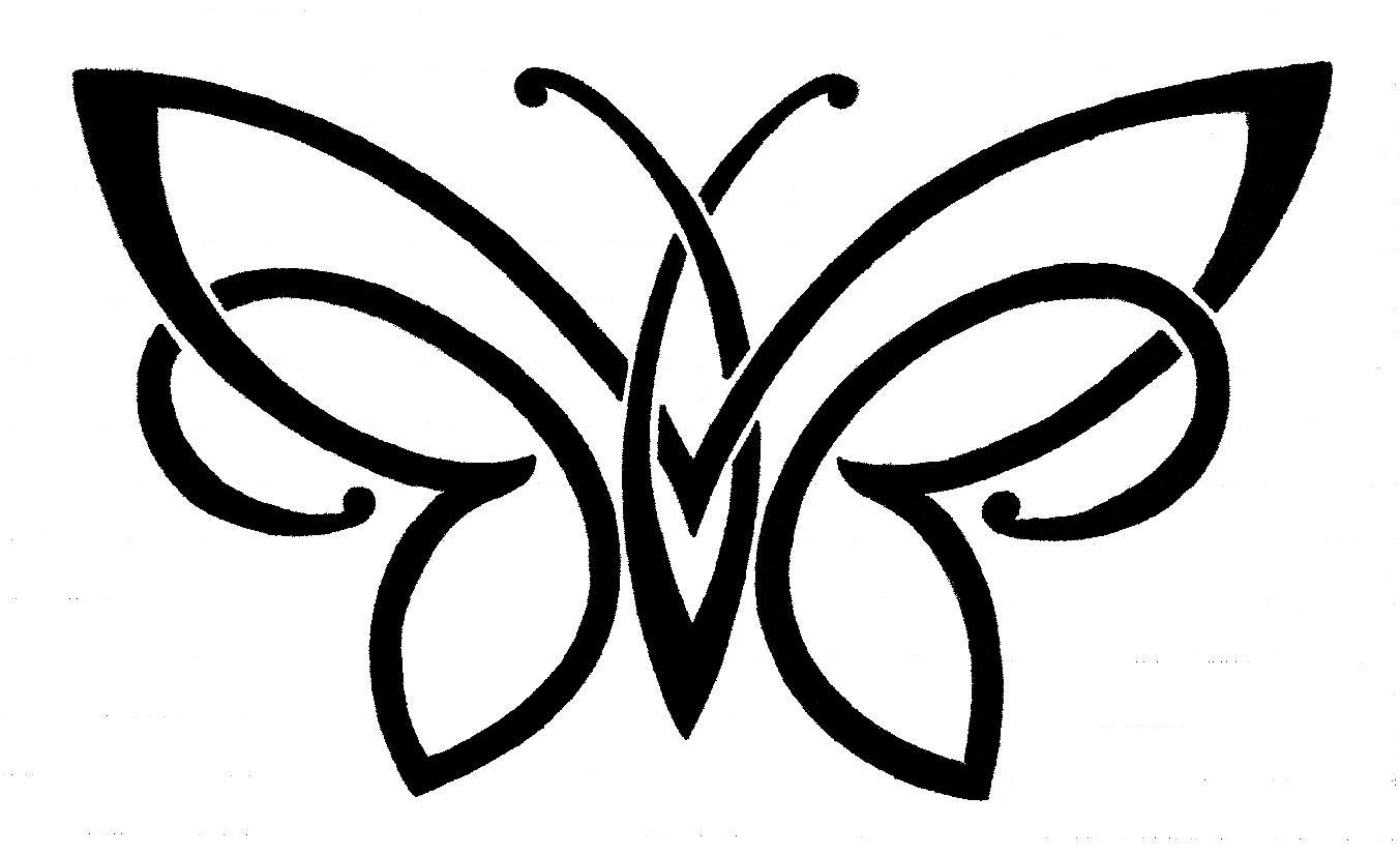 Butterfly Wing Outline