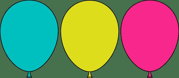ballon outline - clipart