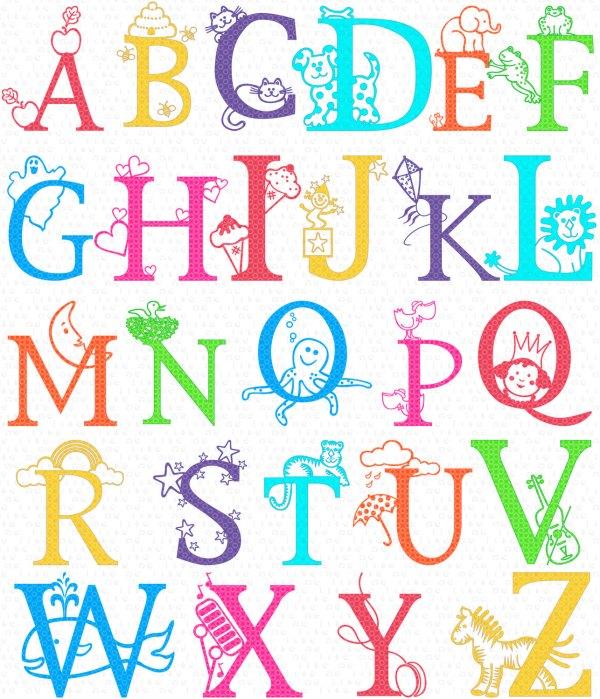 letters of alphabet - clipart