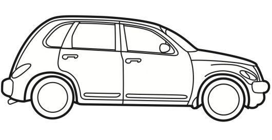 racing car outline drawing - clipart