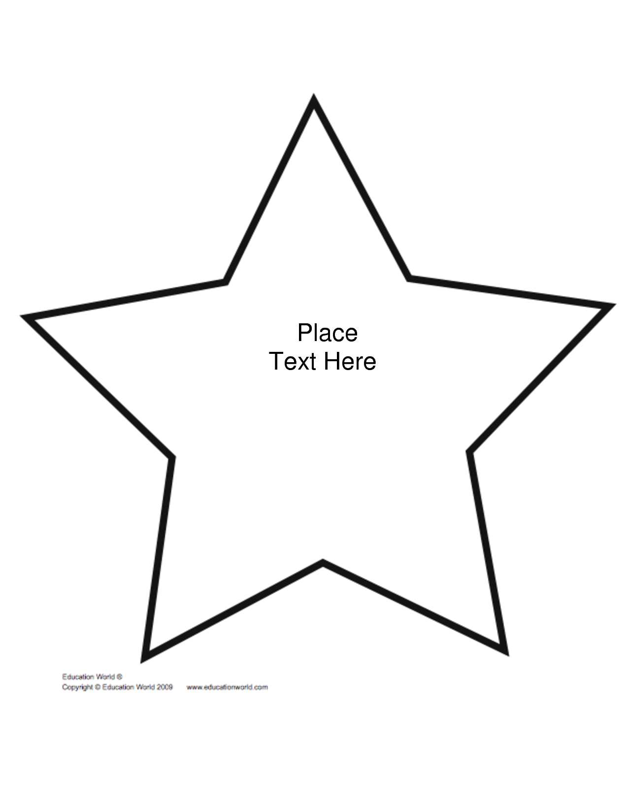 Best Photos Of Star Templates Printable Free