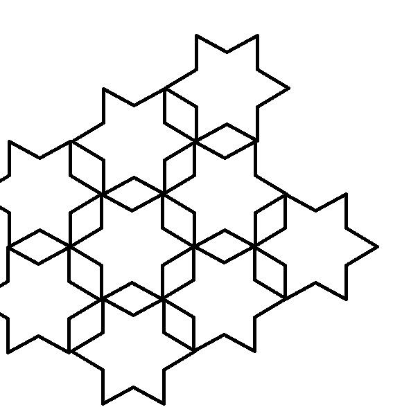 six point star - clipart