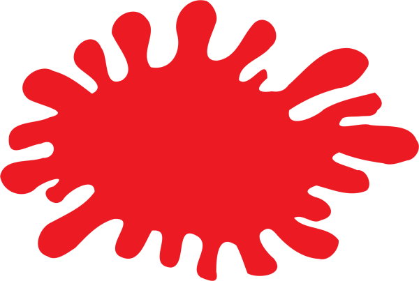 red splat - clipart