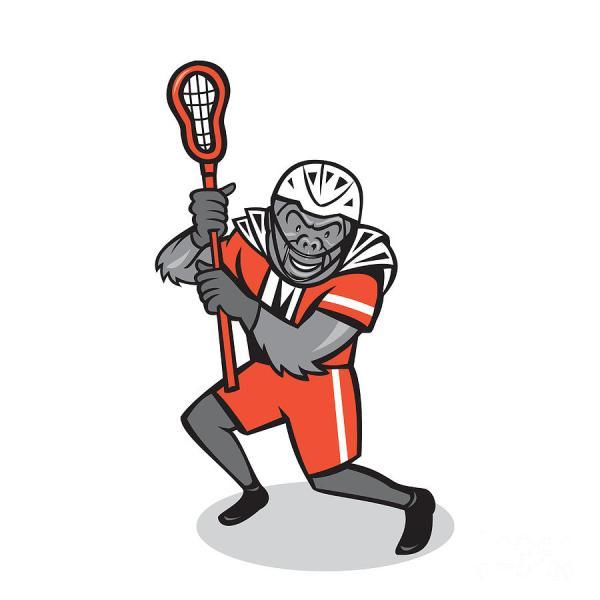 Lacrosse Cartoon - Clipart