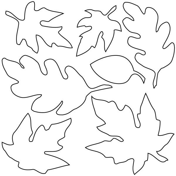 leaves cutout - clipart