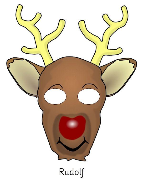 reindeer kids - clipart