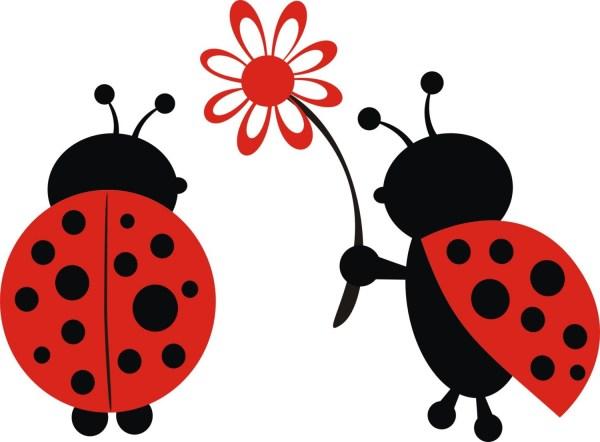 cute ladybugs - clipart