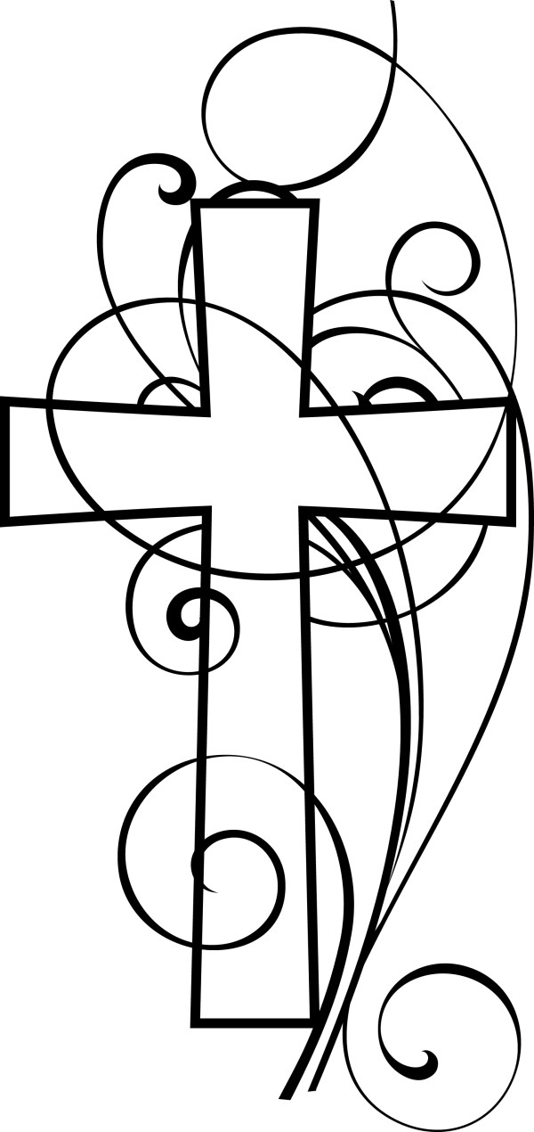 christian clip art black and white