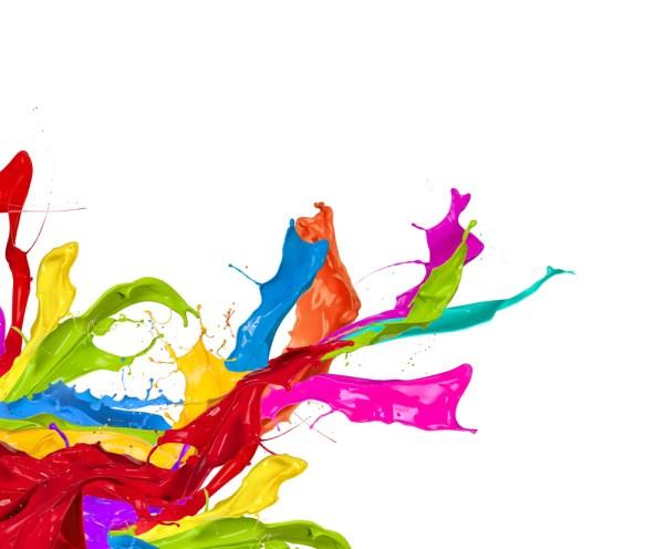 Color Paint Splashes Clip Art