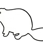 CAT: BLACK & WHITE OUTLINE/SHADOW PUPPET TEMPLATE