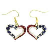 Patriotic Heart Outline Earrings - ClipArt Best - ClipArt Best