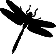 dragonfly silhouette clip art