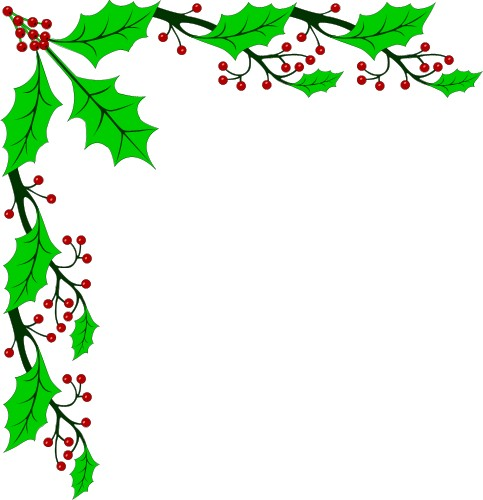 clip art holiday borders - clipart
