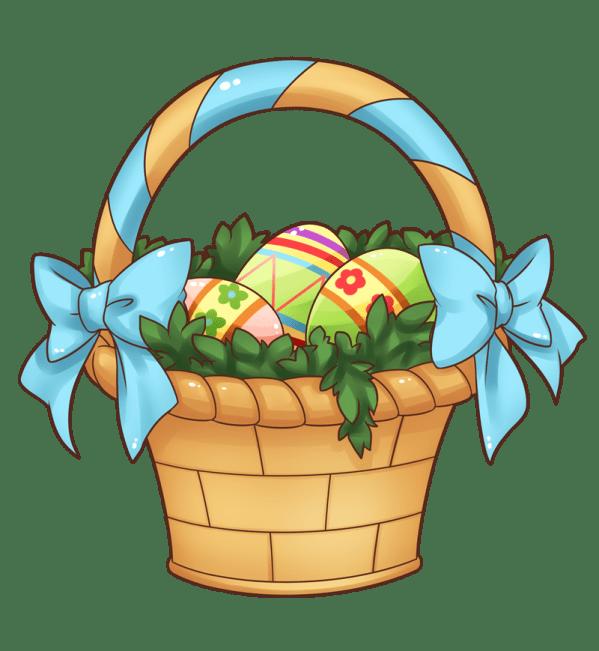 easter baskets cartoon - clipart