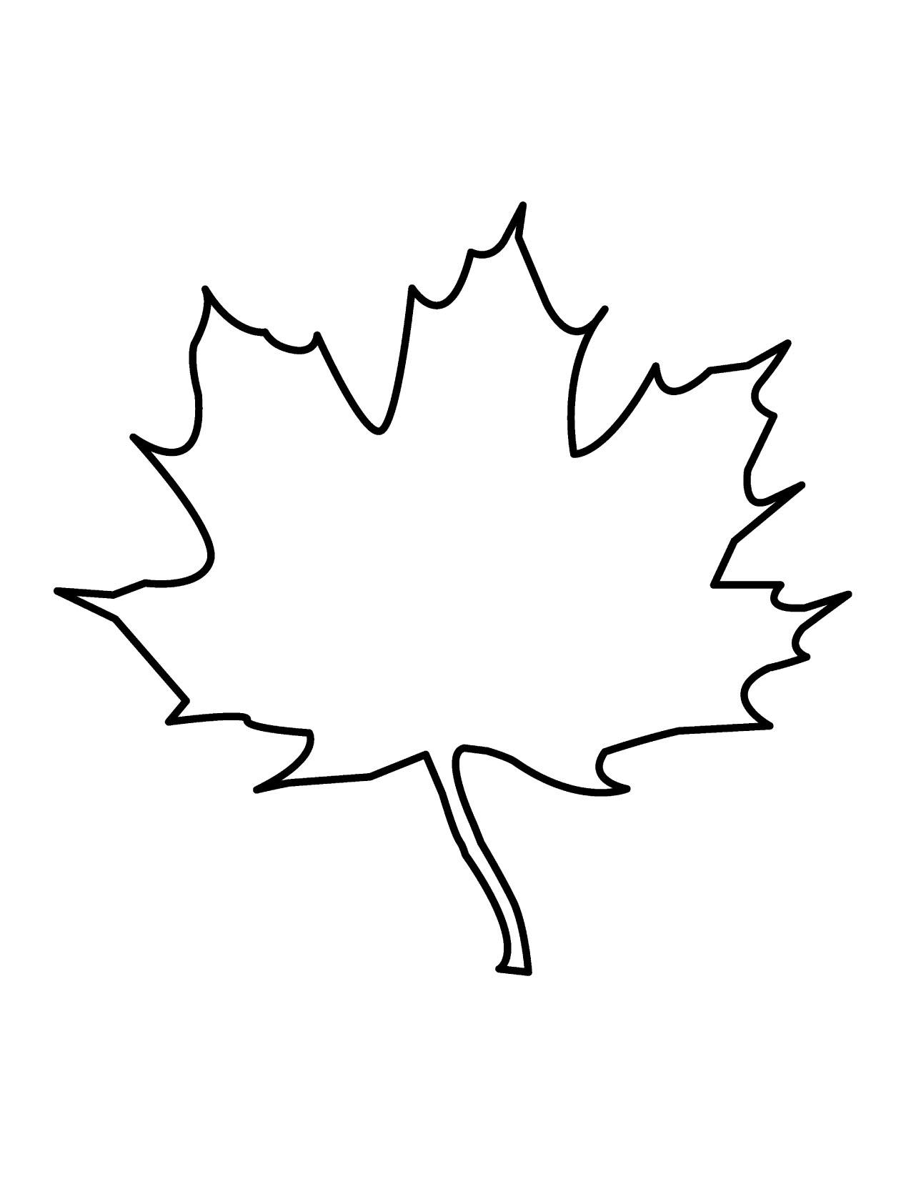Oak Tree Leaf Template