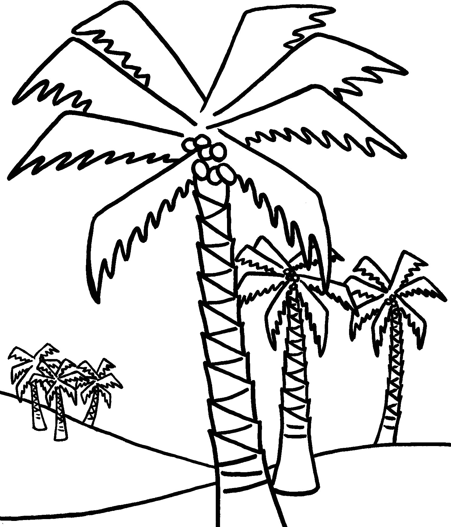 Coloring Pictures Of Trees Clipart Best