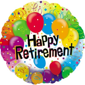 free happy retirement sign - clipart