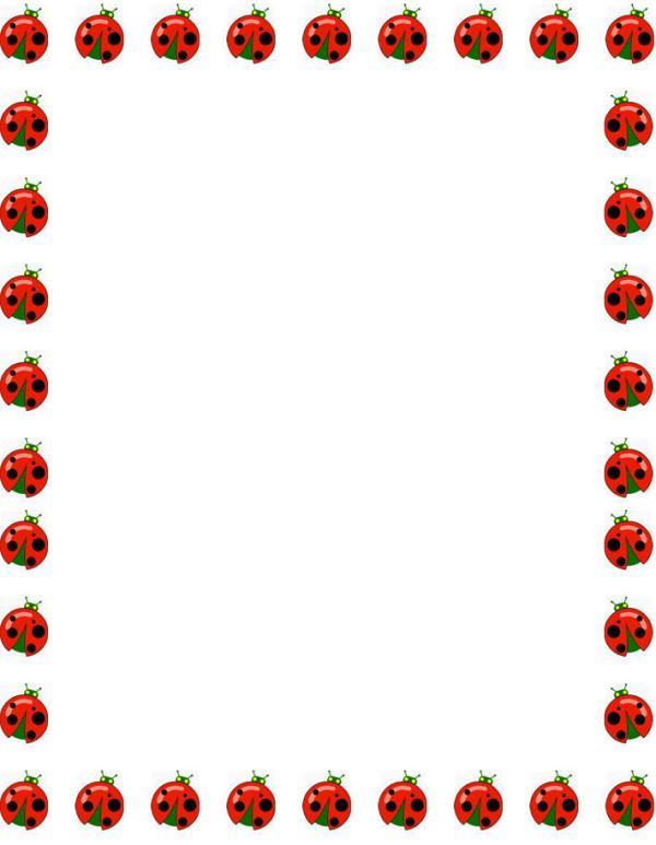 free printable ladybug borders
