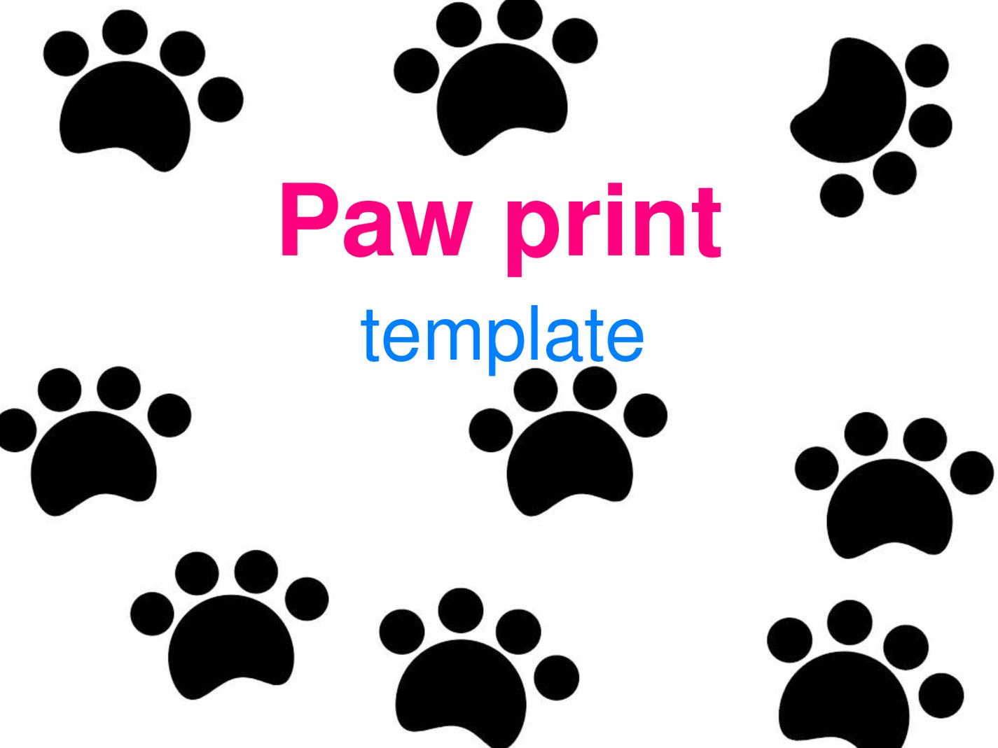 Paw Print Template