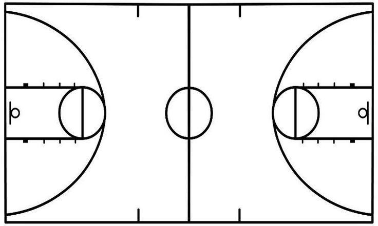 Basketball Diagram Template & Basketball Court Diagram