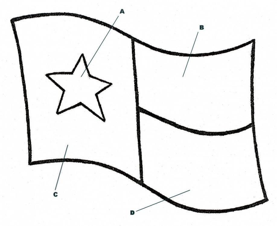 Printable Texas Map Sketch Coloring Page