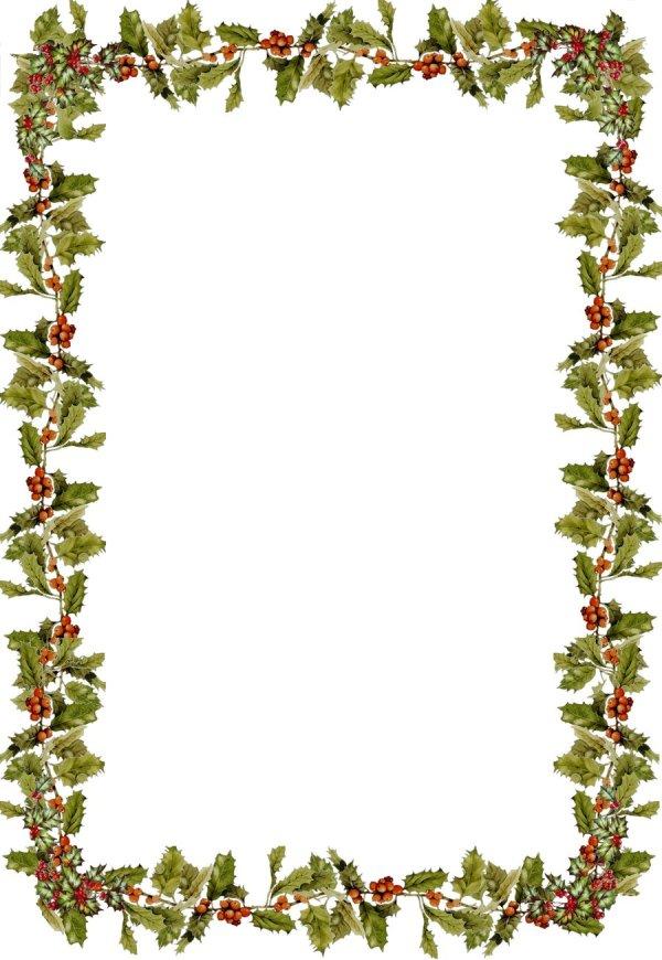 holly border clip art - clipart