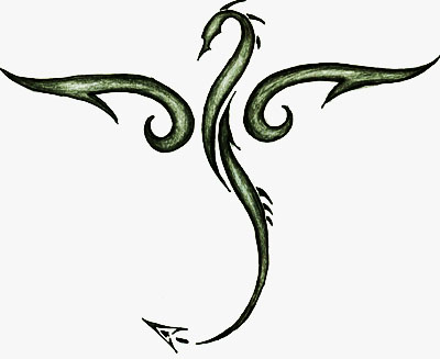 Tribal Dragon Drawing ClipArt Best