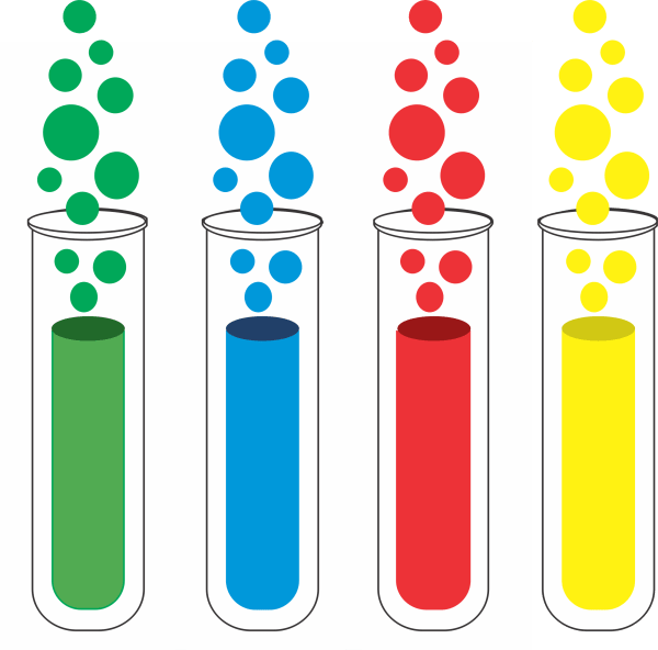Beakers And Test Tubes - Clipart