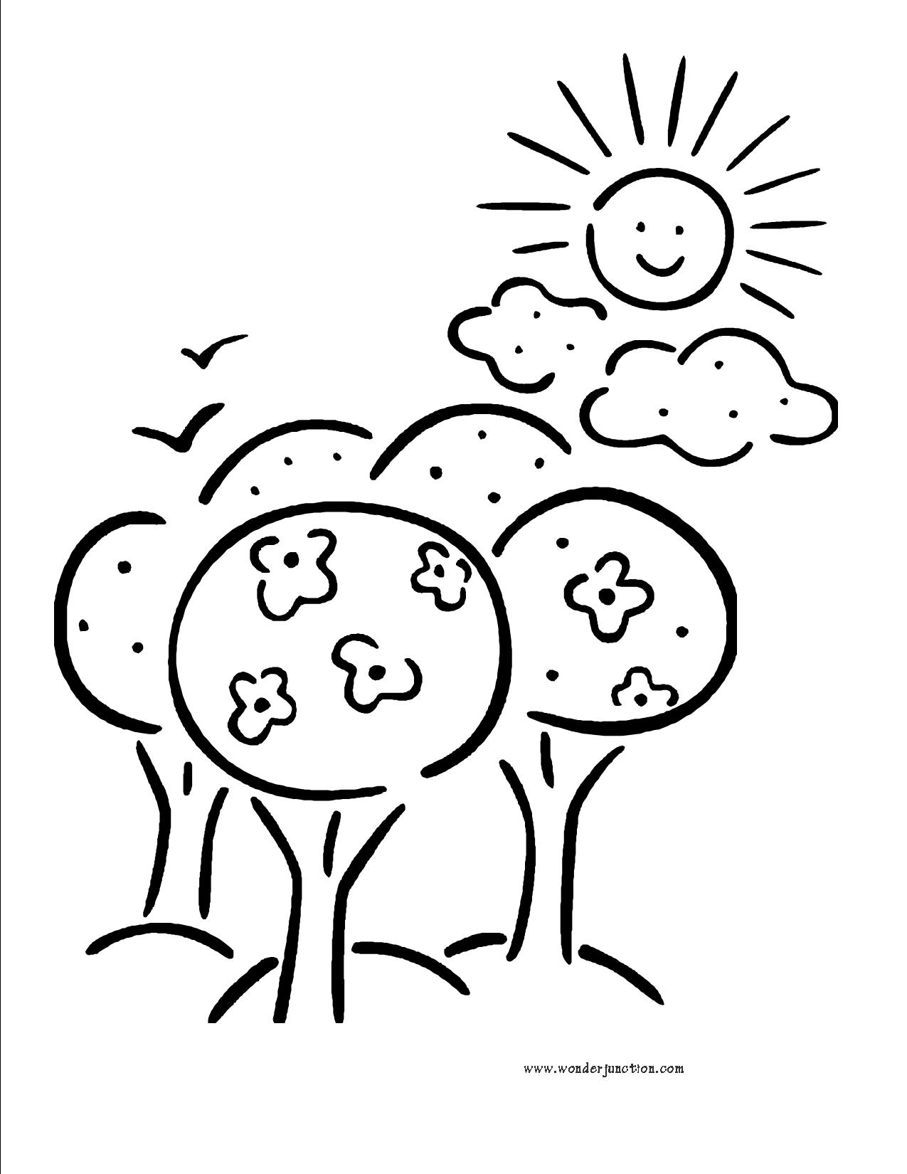 Sunny Day Clipart Black And White