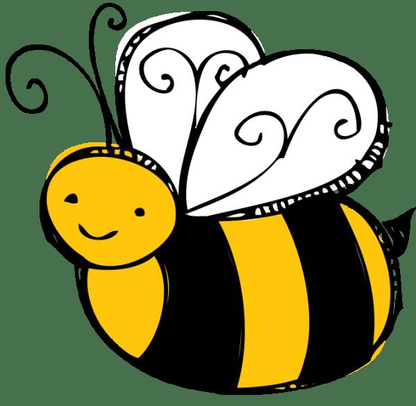 bee buzzing - clipart