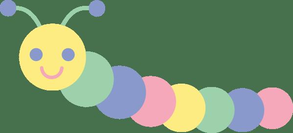 cartoon caterpillar - clipart