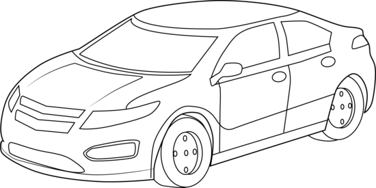 car clipart black and white 2014
