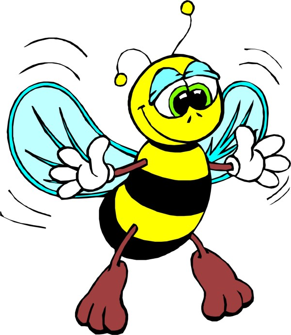 animated bee - clipart