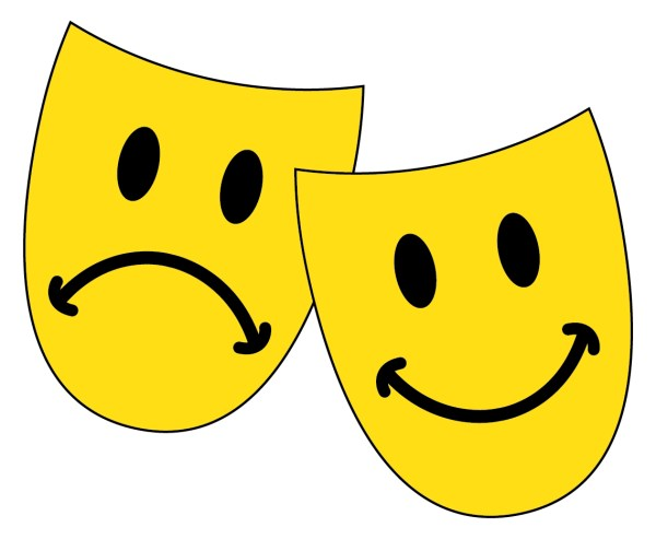 Smiley Face with Mask Clip Art