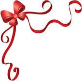 christmas ribbon clip art - clipart