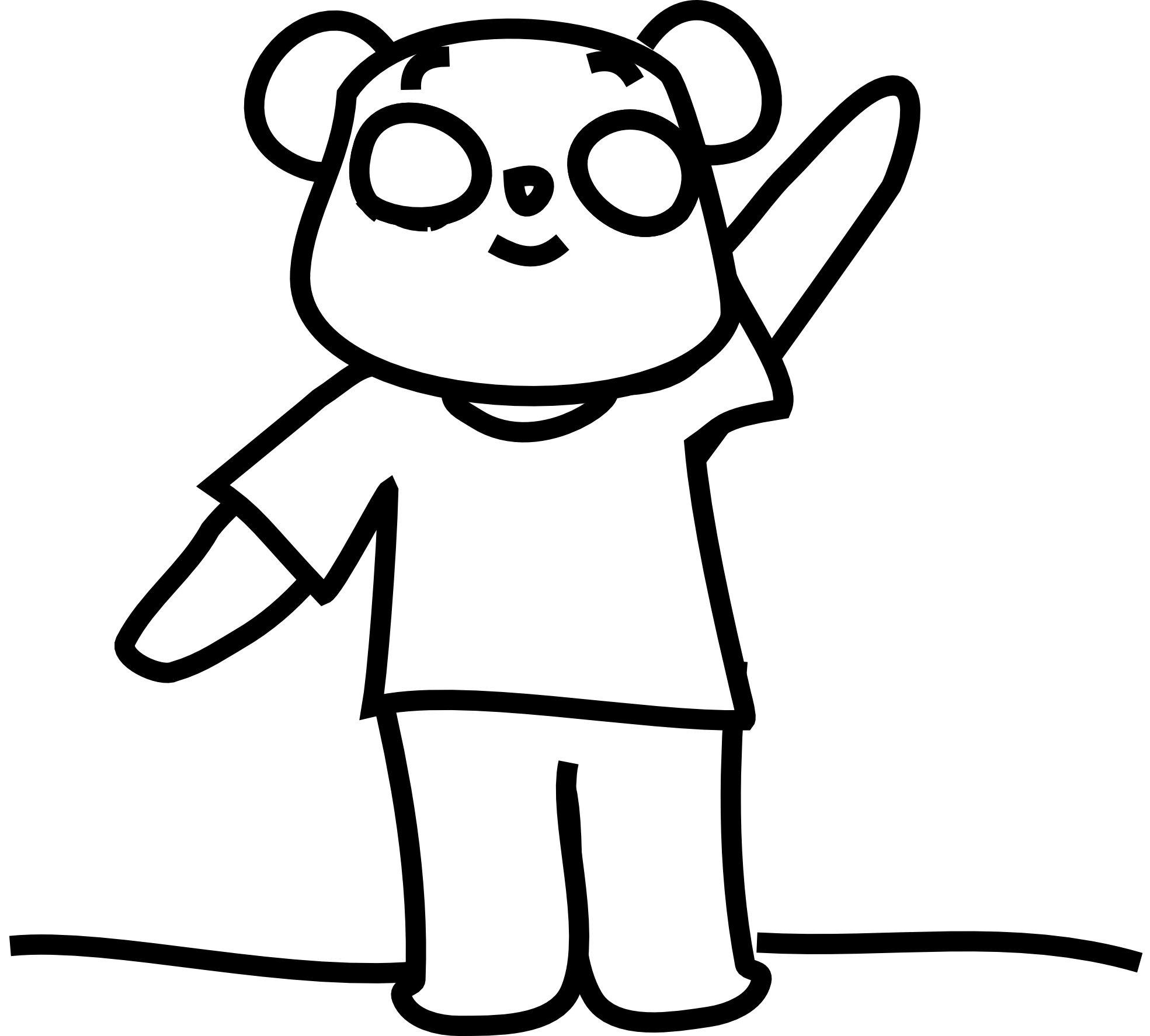 Clipart Black And White Bear