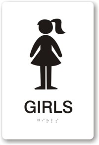 Girls Restroom Sign - ClipArt Best