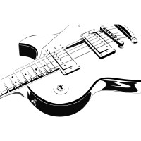 Guitar Line Drawing - ClipArt Best