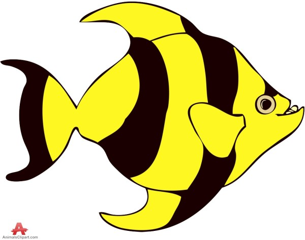 yellow fish clip art - clipart