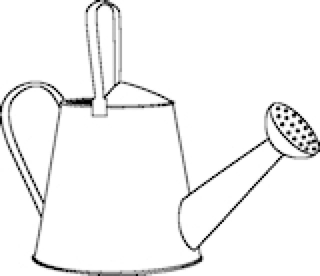 Colorable Watering Can Outline