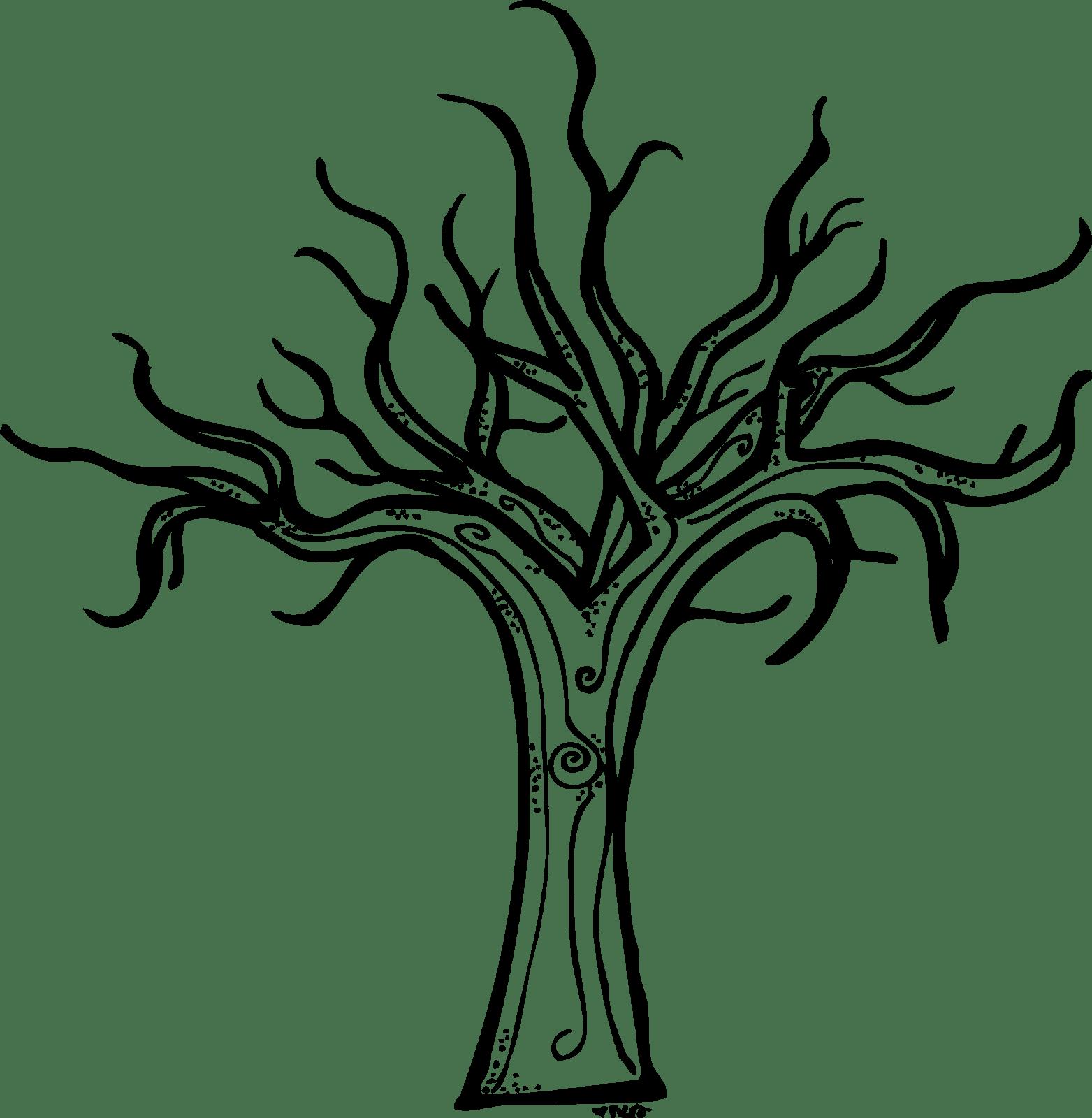 Scary Trees Clip Art