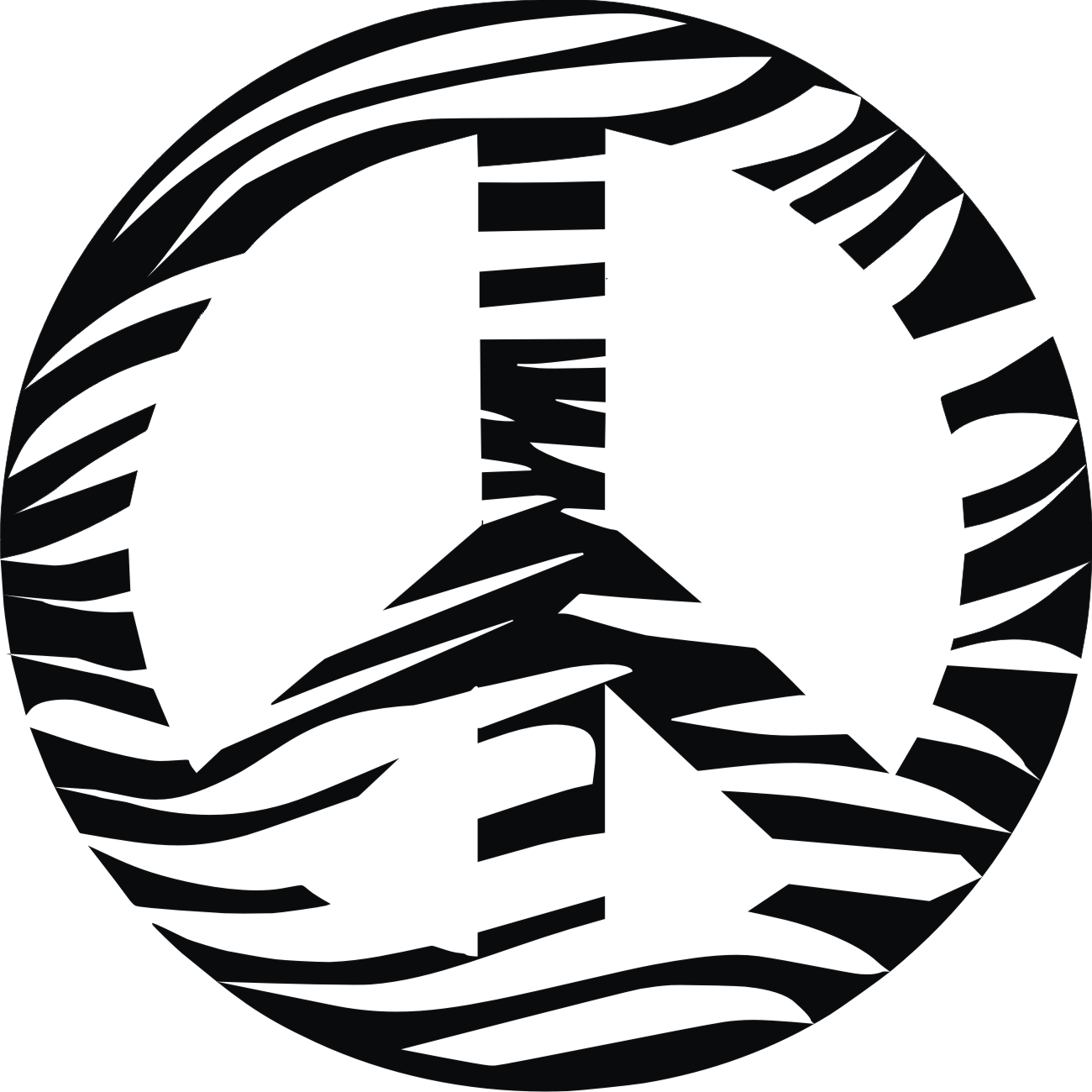Zebra Peace Sign Wall Decals