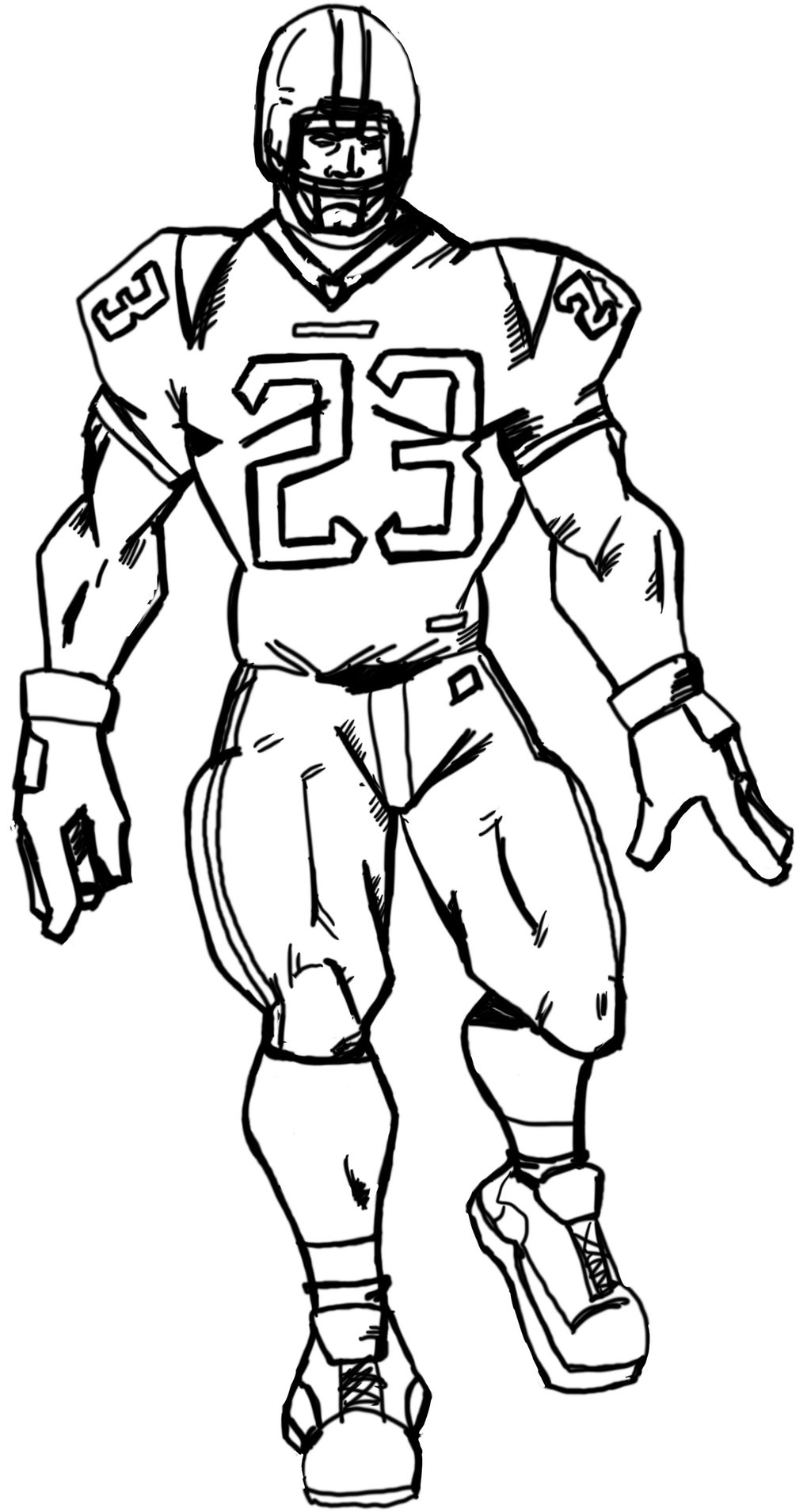 Drawing Of A Football Player
