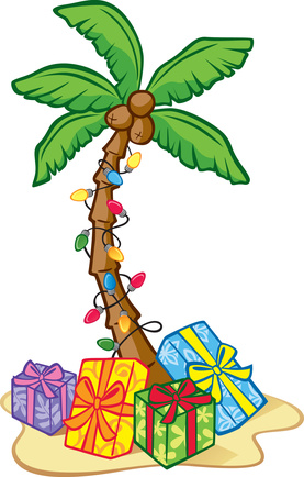 christmas palm tree clip art