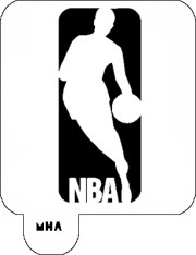 hair art stencil - nba logo