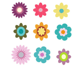 printable flowers - clipart