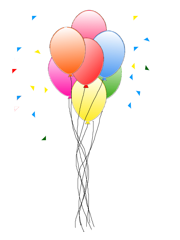 happy birthday balloon - clipart