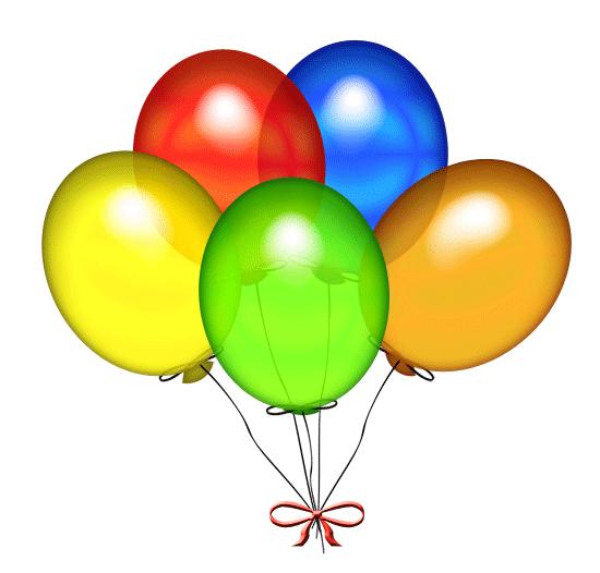 free birthday balloons clip art